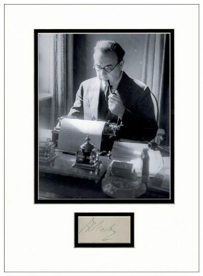 J B Priestley Autograph Signed Display